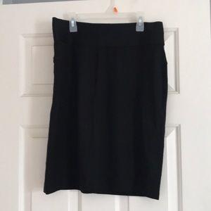 A line black skirt